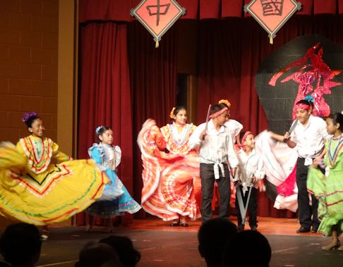chinese fest now with more mexican dances